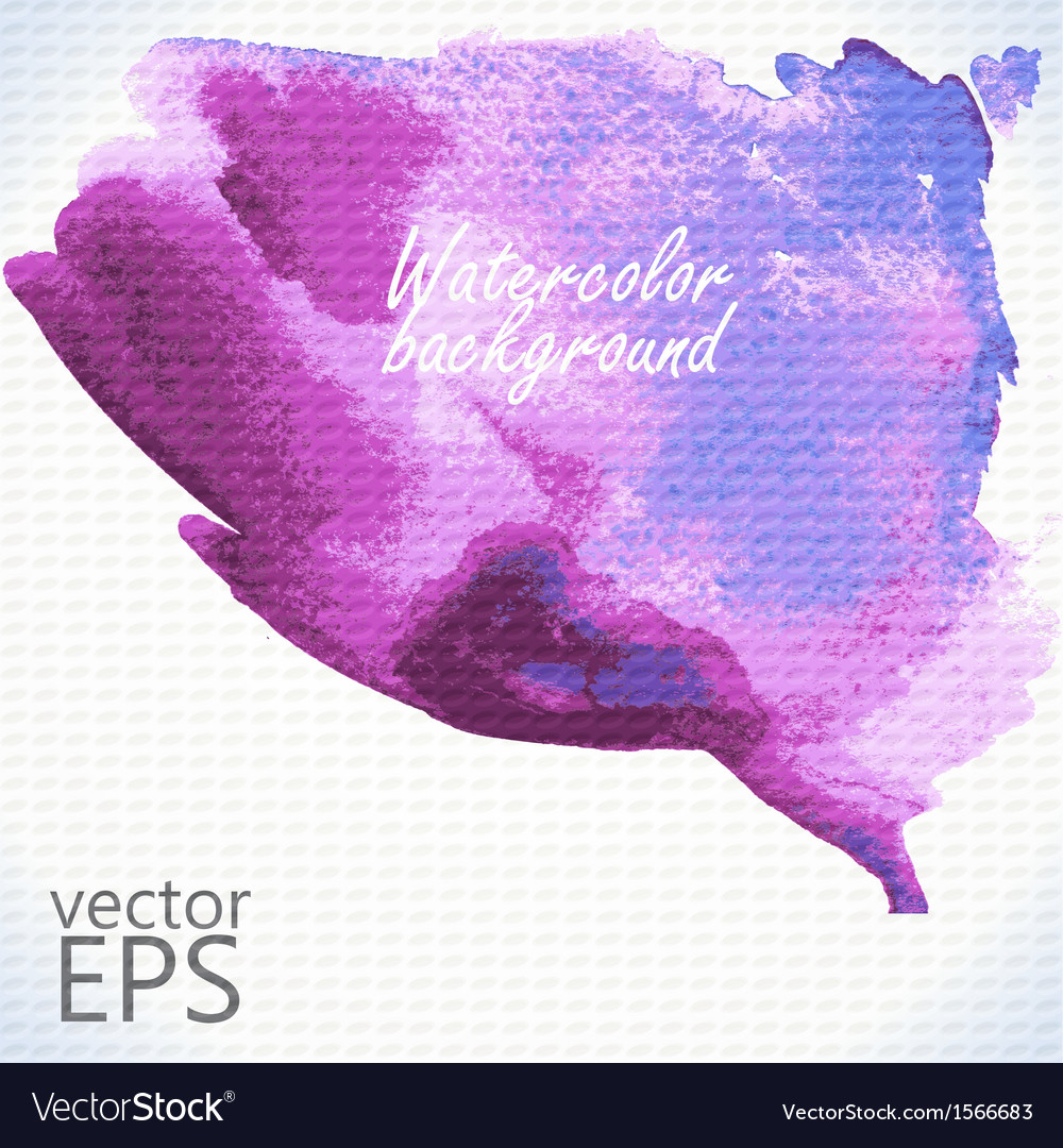 Watercolor hand painted shape vector | Price: 1 Credit (USD $1)