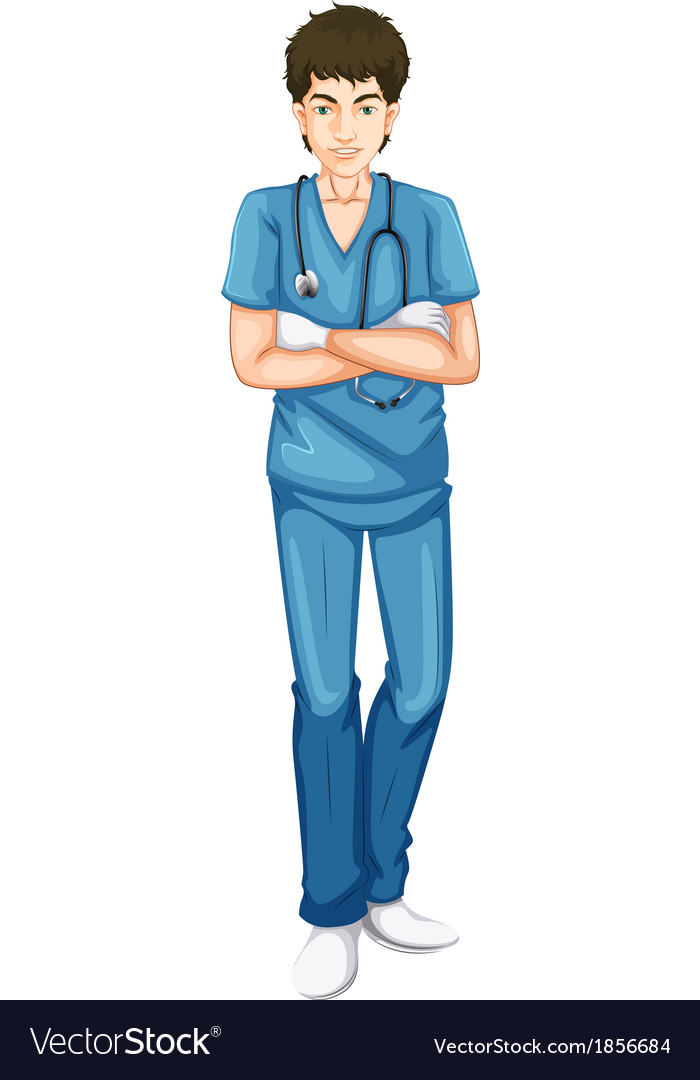 A young male doctor vector | Price: 1 Credit (USD $1)