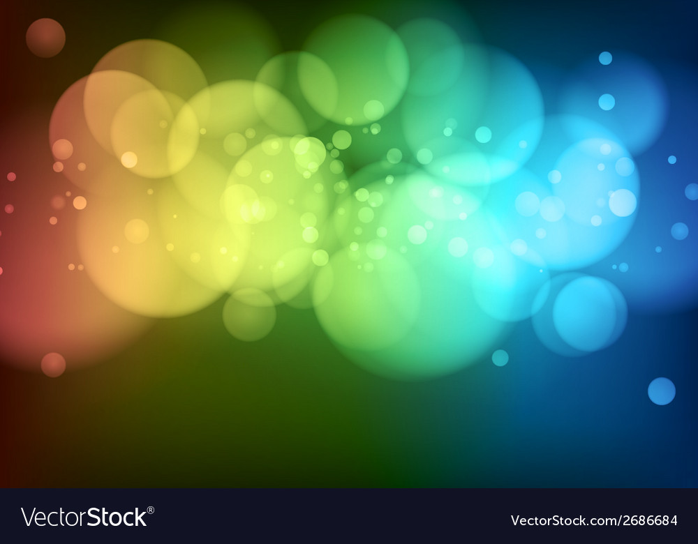 Abstract background with bokeh lights vector | Price: 1 Credit (USD $1)