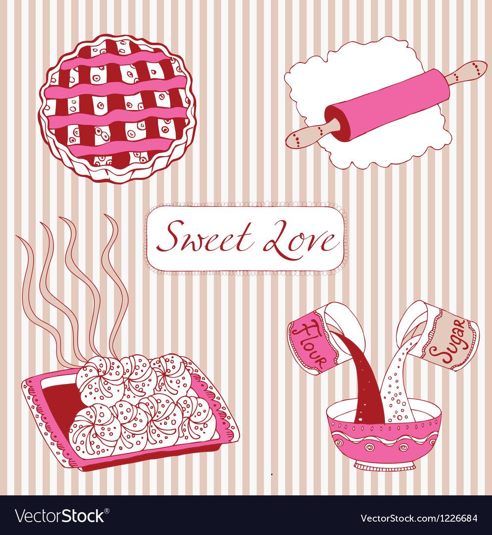 Bakery sweet love vector | Price: 1 Credit (USD $1)