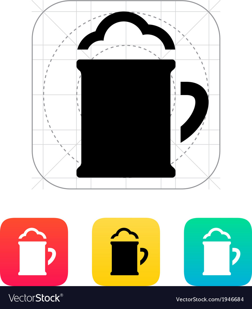 Beer mug with foam icon vector | Price: 1 Credit (USD $1)