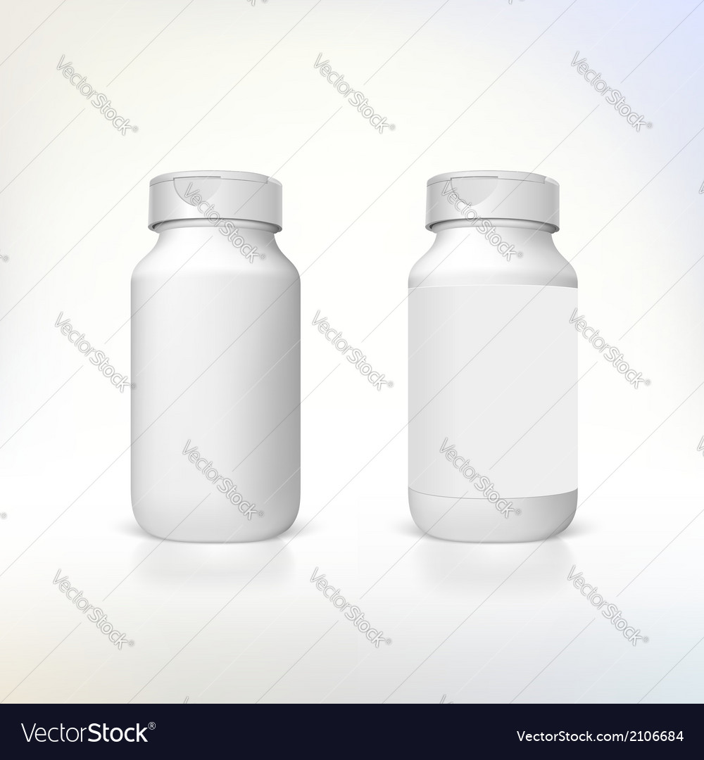 Bottle for dietary supplements and medicines vector | Price: 1 Credit (USD $1)