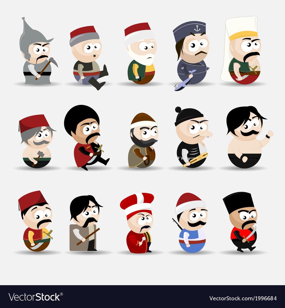 Cartoon people vector | Price: 1 Credit (USD $1)