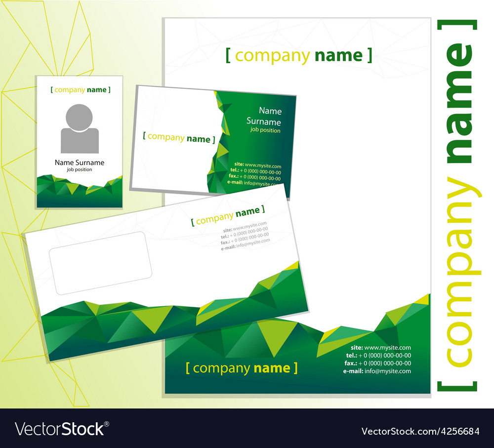 Company style green vector | Price: 1 Credit (USD $1)