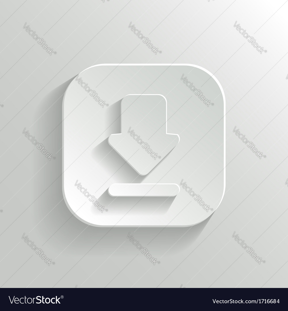 Download icon - white app button vector | Price: 1 Credit (USD $1)
