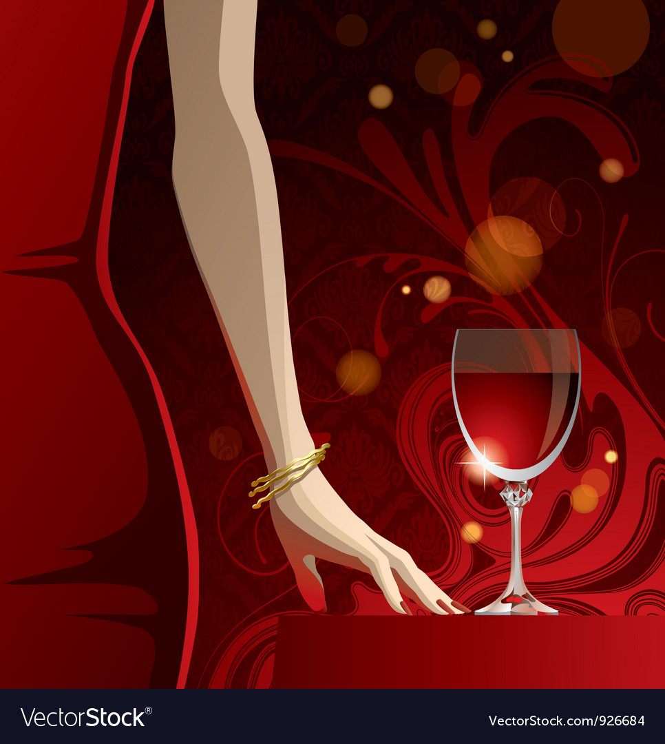 Glass of red wine vector | Price: 3 Credit (USD $3)