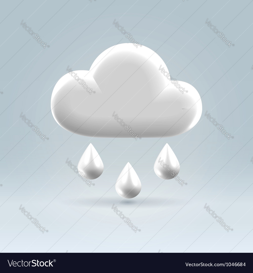 Glossy white plastic weather icon vector | Price:  Credit (USD $)