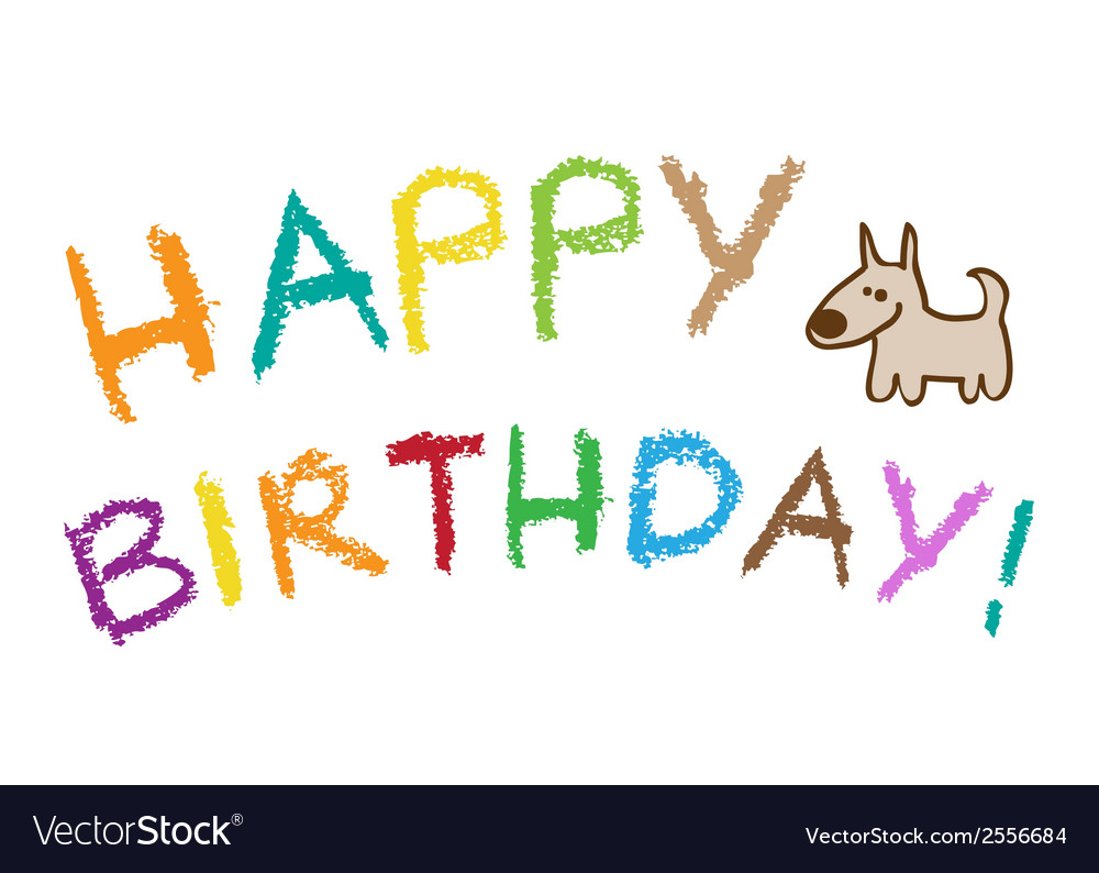 Happy birthday greeting card - vector | Price: 1 Credit (USD $1)