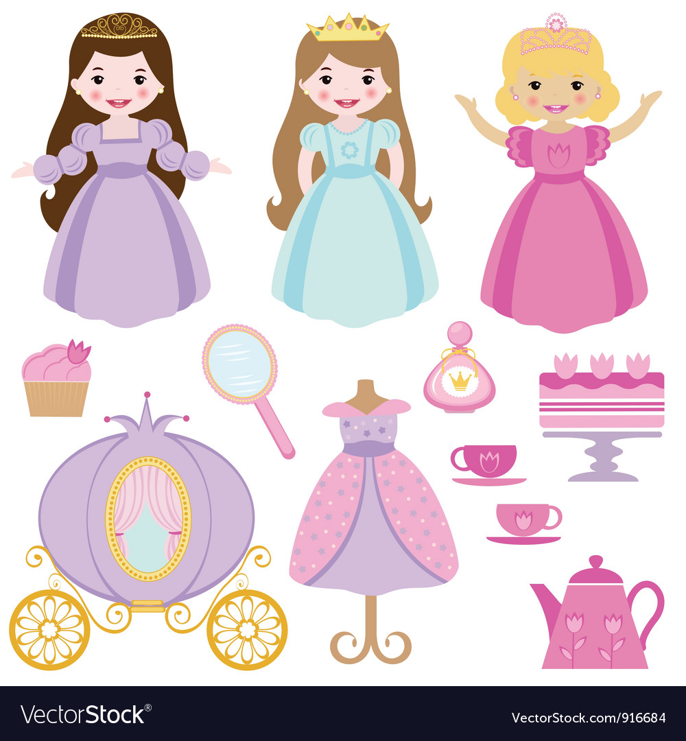 Princess party vector | Price: 1 Credit (USD $1)