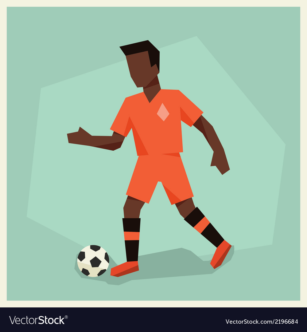 Soccer player in flat design style vector | Price: 1 Credit (USD $1)