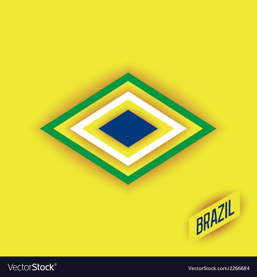 Stylized elements of a flag brazil vector | Price: 1 Credit (USD $1)