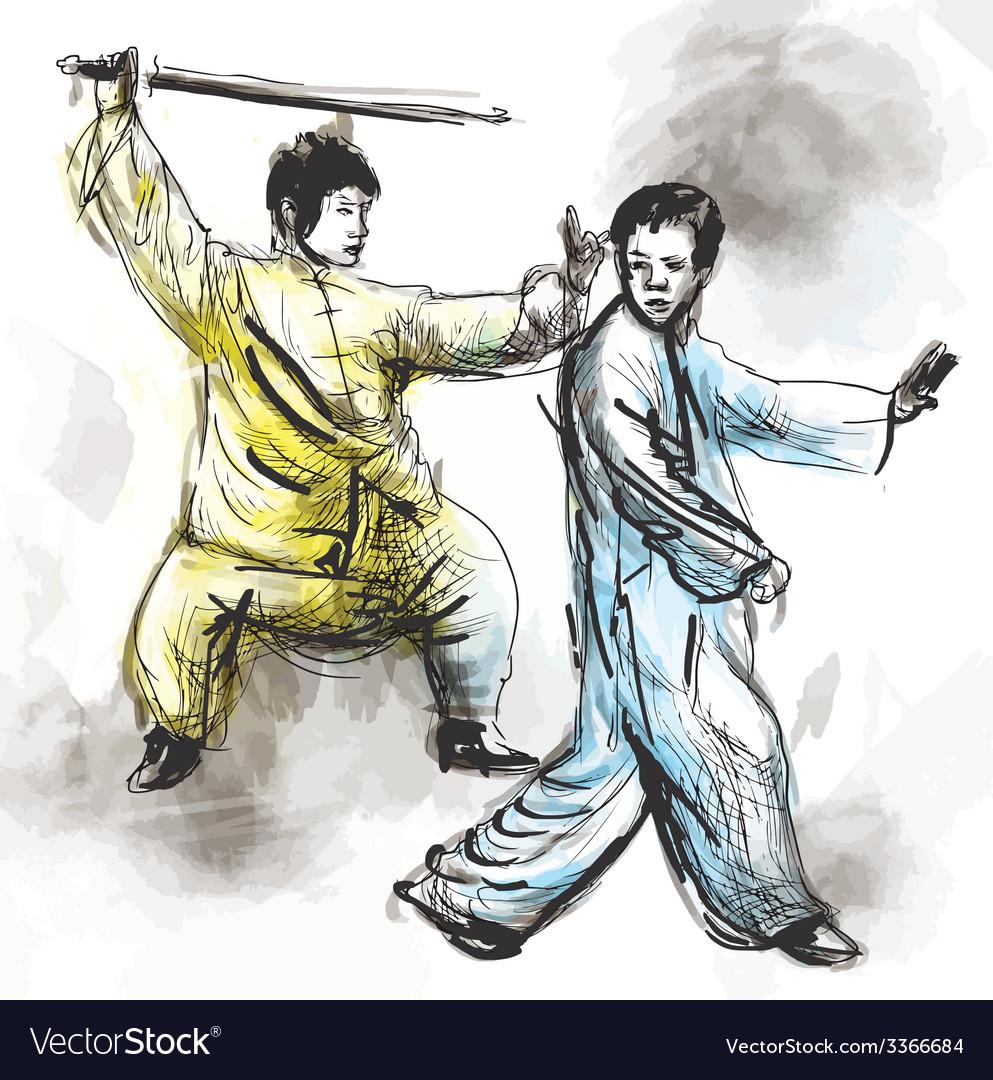Taiji tai chi an hand drawn converted into vector | Price: 1 Credit (USD $1)