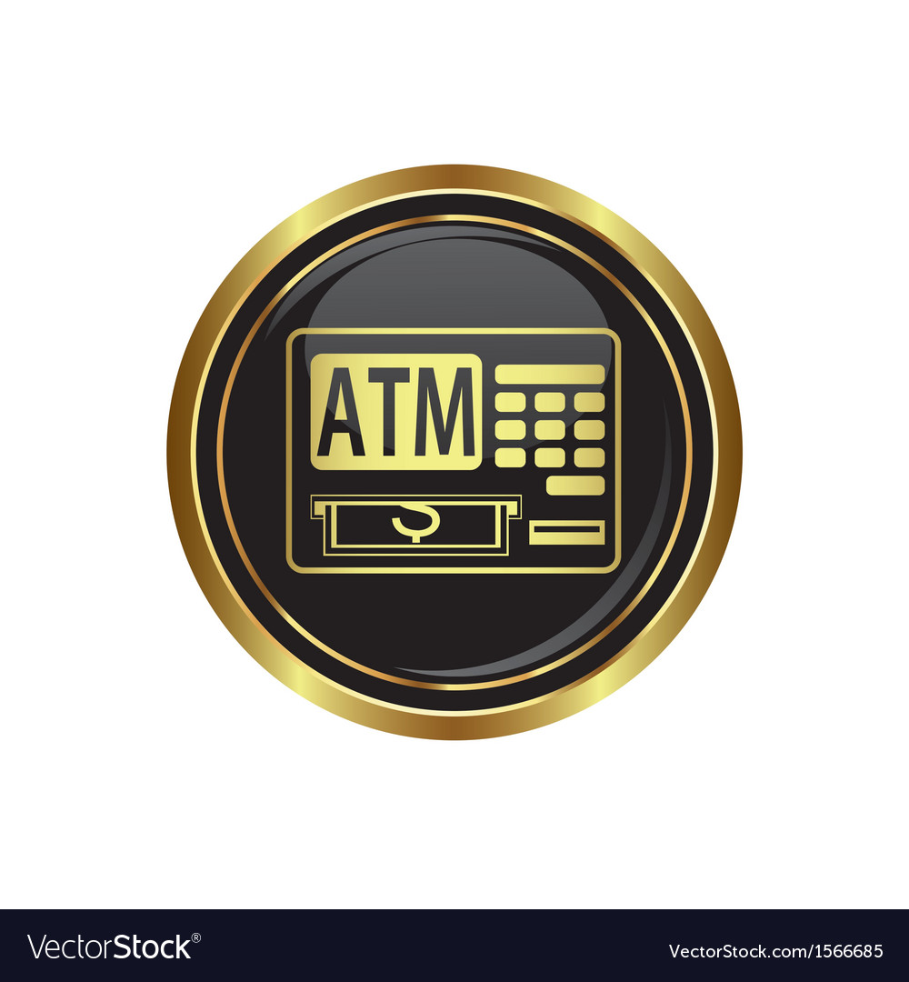 Atm button gold copy vector | Price: 1 Credit (USD $1)