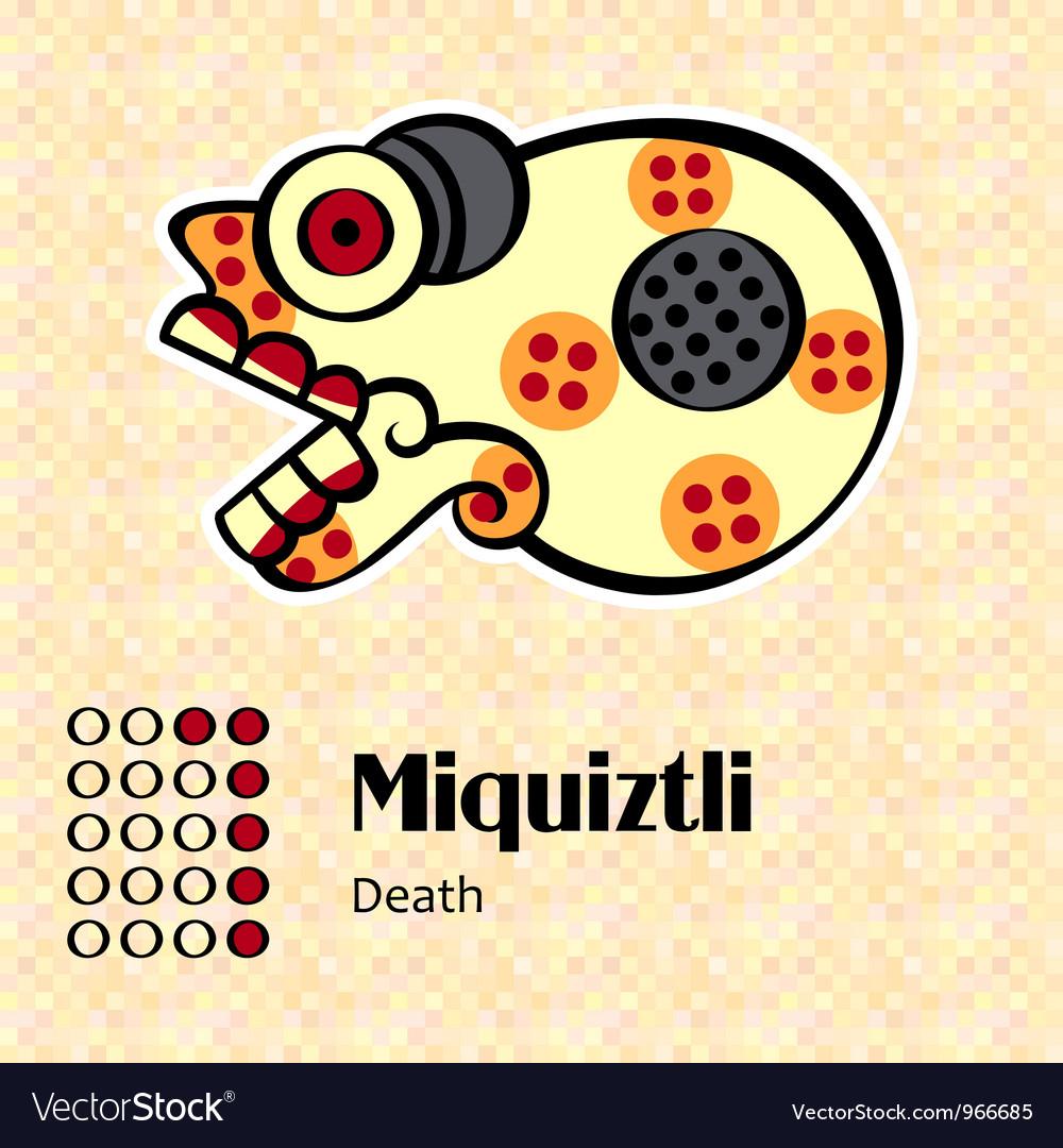 Aztec symbol miquiztli vector | Price: 1 Credit (USD $1)