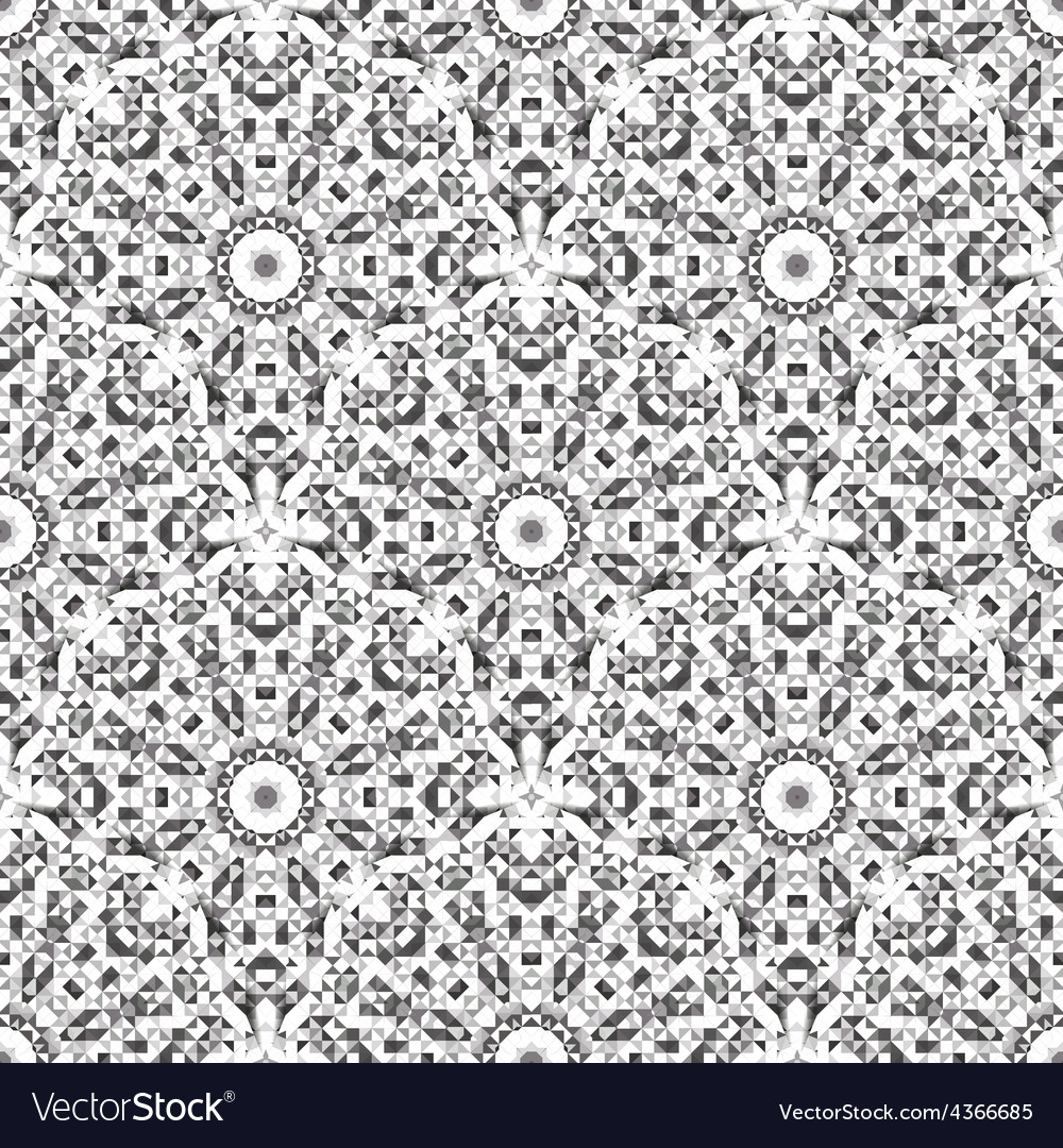 Black and white color geometric pattern vector | Price: 1 Credit (USD $1)