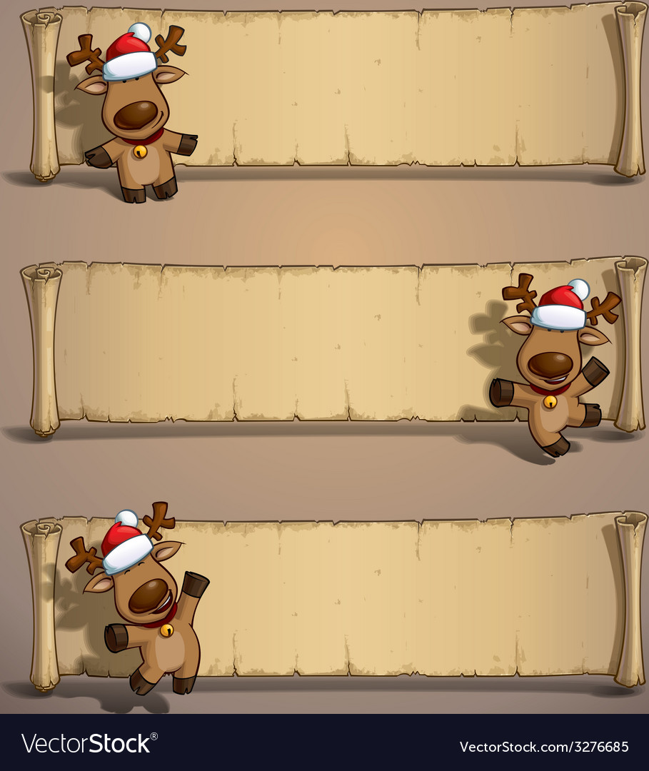 Christmas elks papyrus vector | Price: 3 Credit (USD $3)