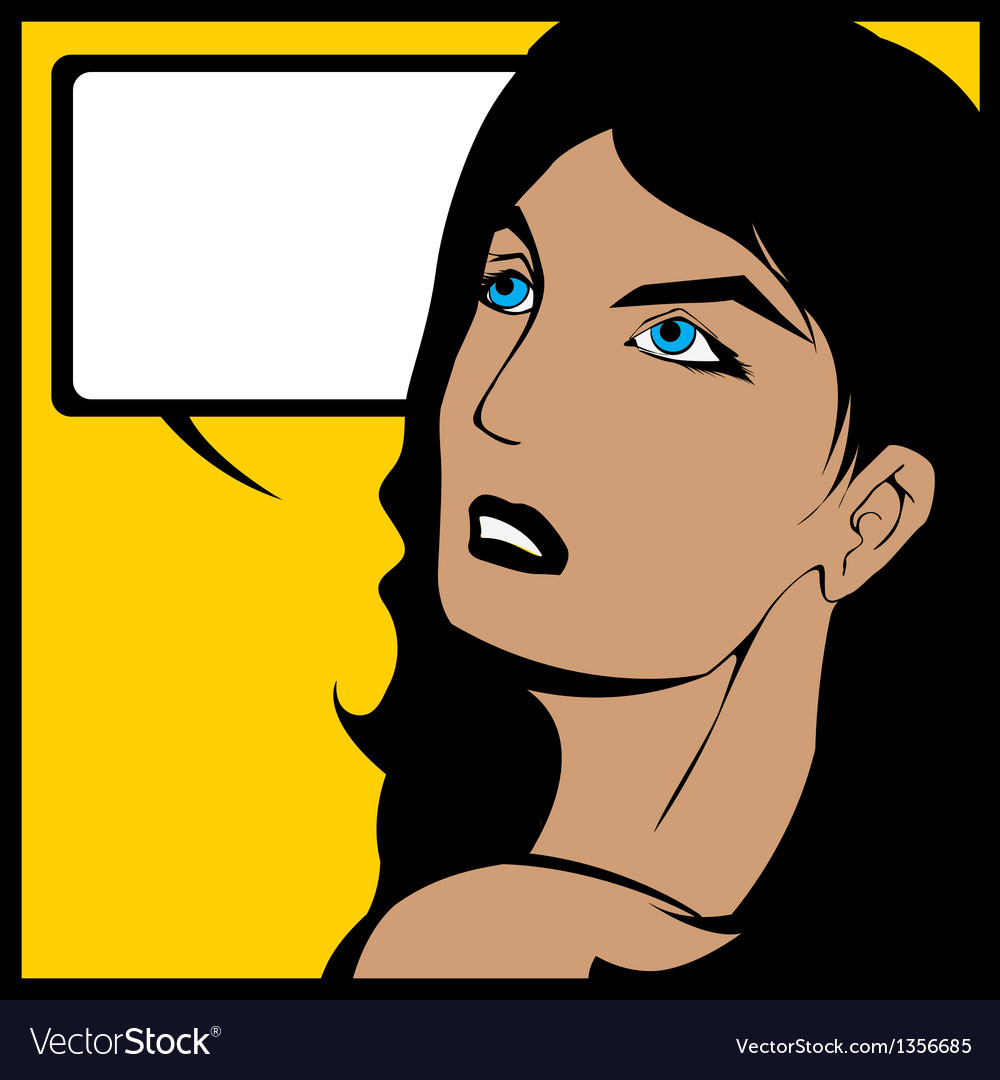 Comic speech bubble woman vector | Price: 1 Credit (USD $1)