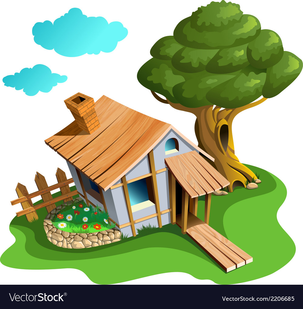 Cozy village house vector | Price: 3 Credit (USD $3)