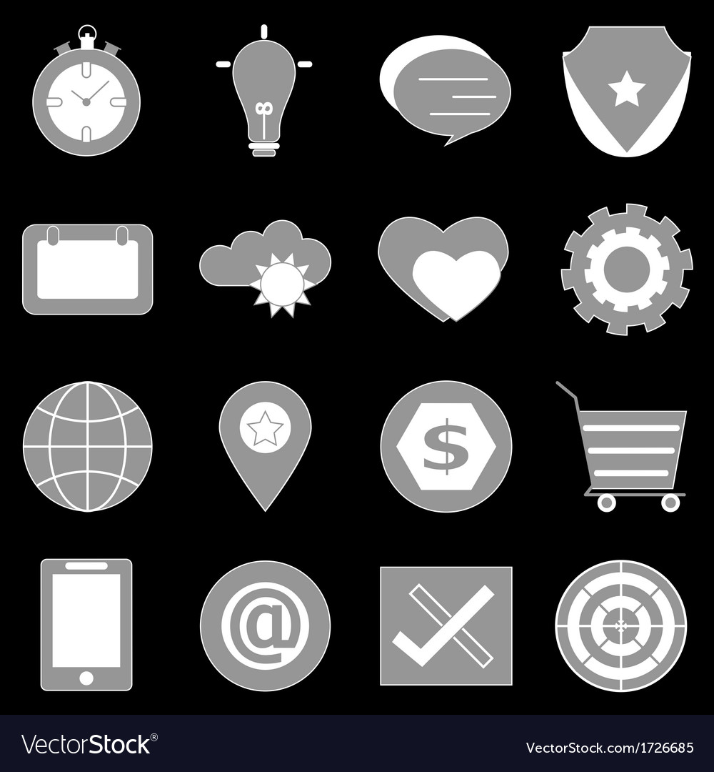 General icons on back background vector | Price: 1 Credit (USD $1)