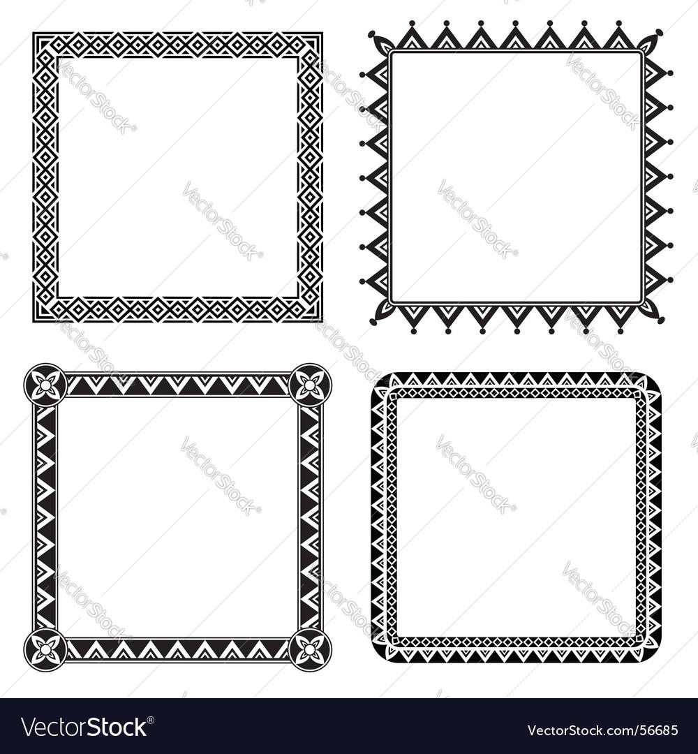 Geometric ornamental frames vector | Price: 1 Credit (USD $1)
