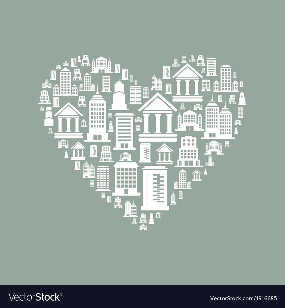 Heart the house2 vector | Price: 1 Credit (USD $1)