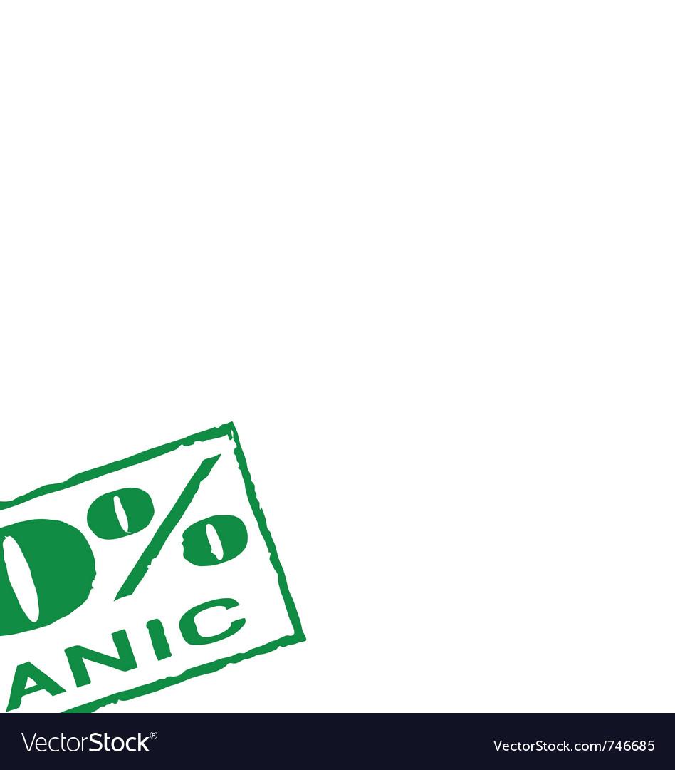 Organic print vector | Price: 1 Credit (USD $1)