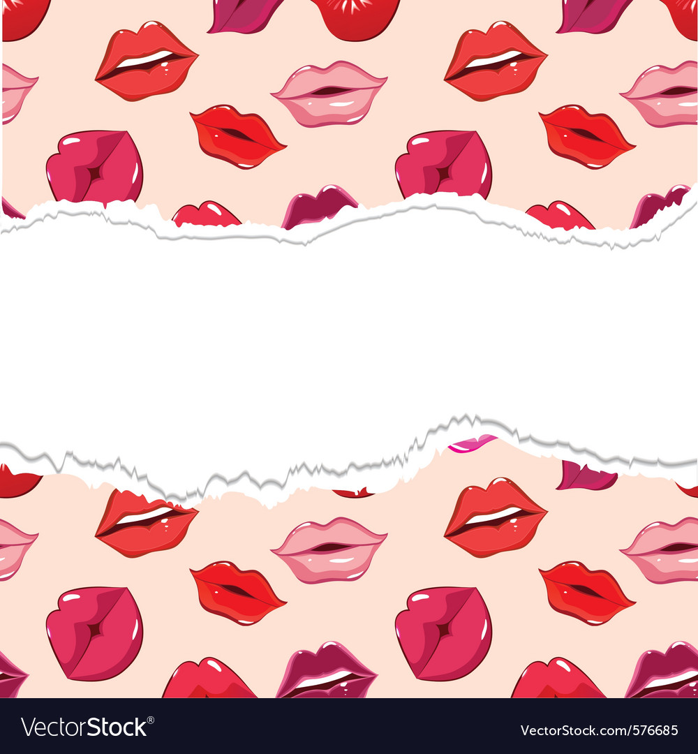 Red torn seamless lips wallpaper vector   Price: 1 Credit (USD $1)