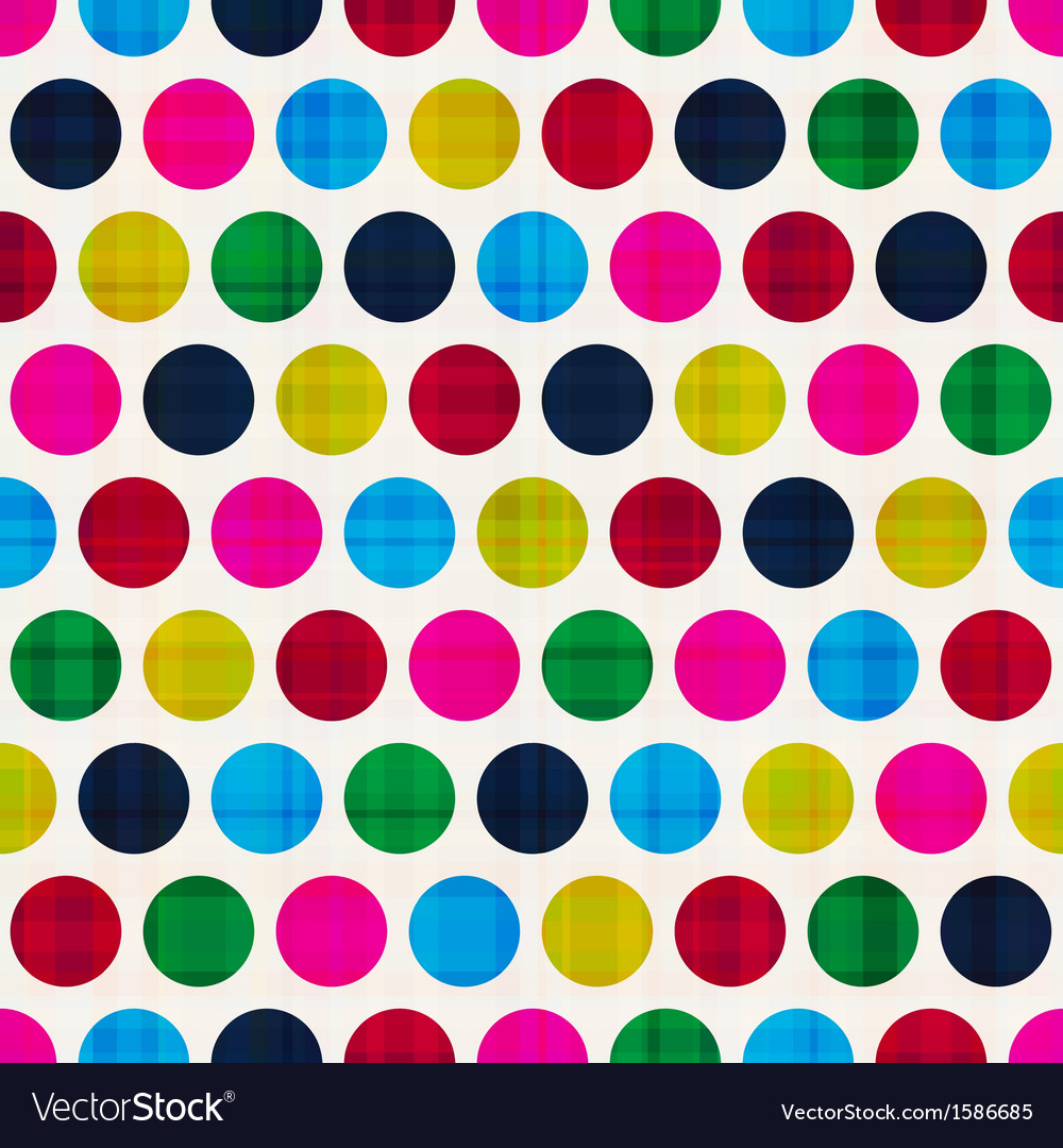 Retro polka dots seamless pattern vector | Price: 1 Credit (USD $1)