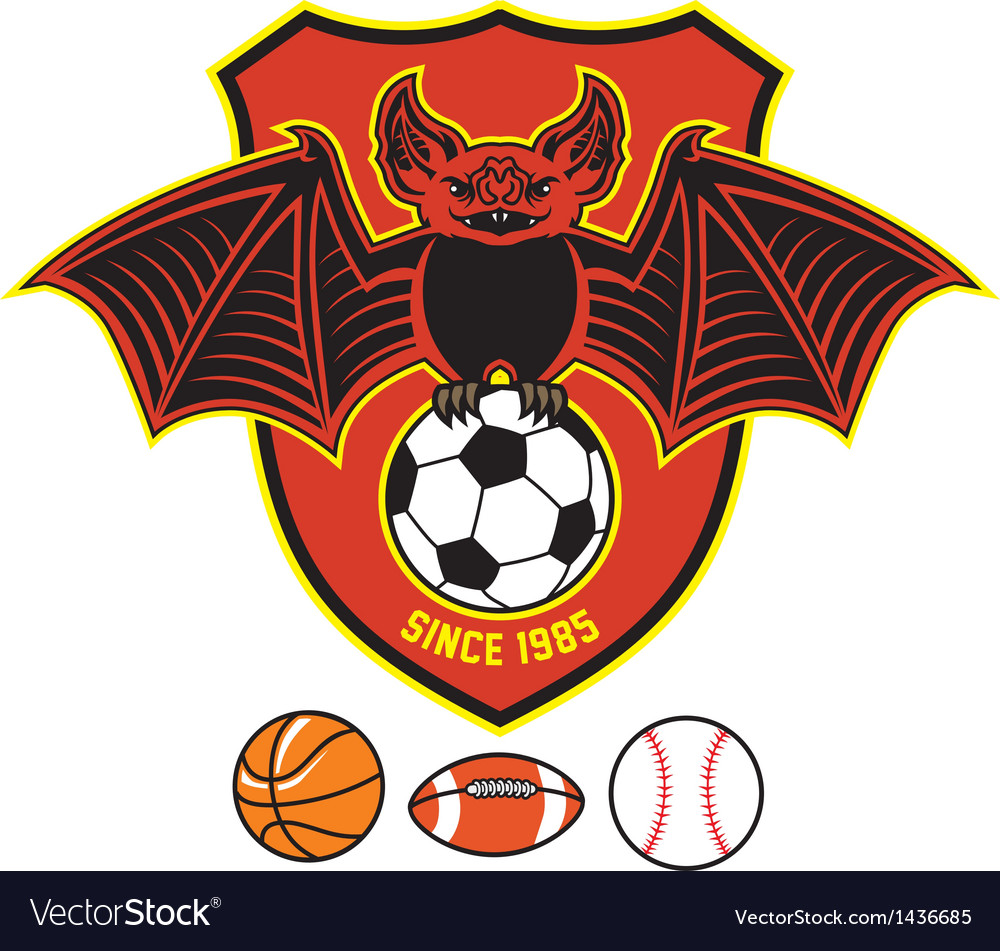 Vampire bat as a sport mascot vector | Price: 1 Credit (USD $1)