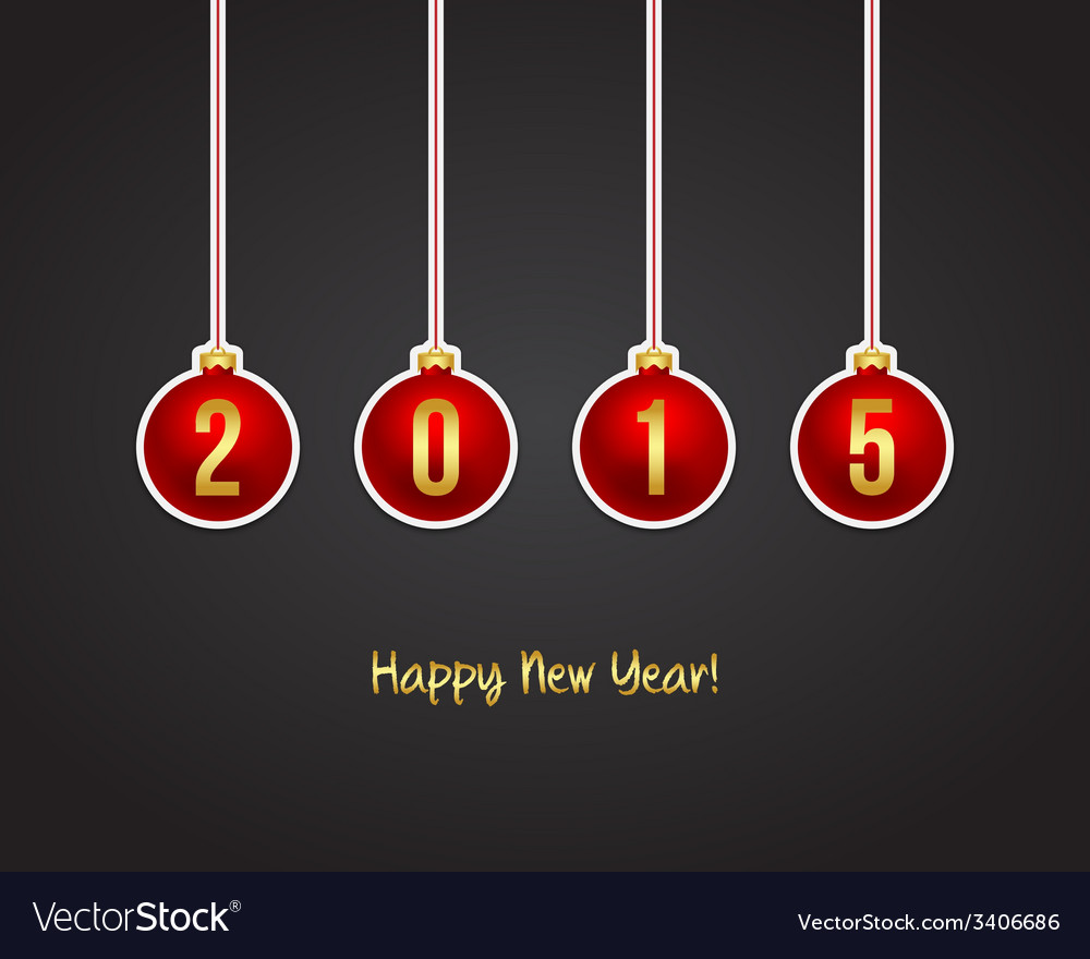 2015 new year background vector | Price: 1 Credit (USD $1)