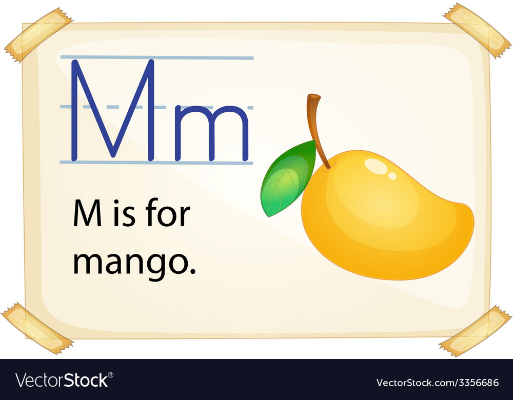 A letter m for mango vector | Price: 3 Credit (USD $3)