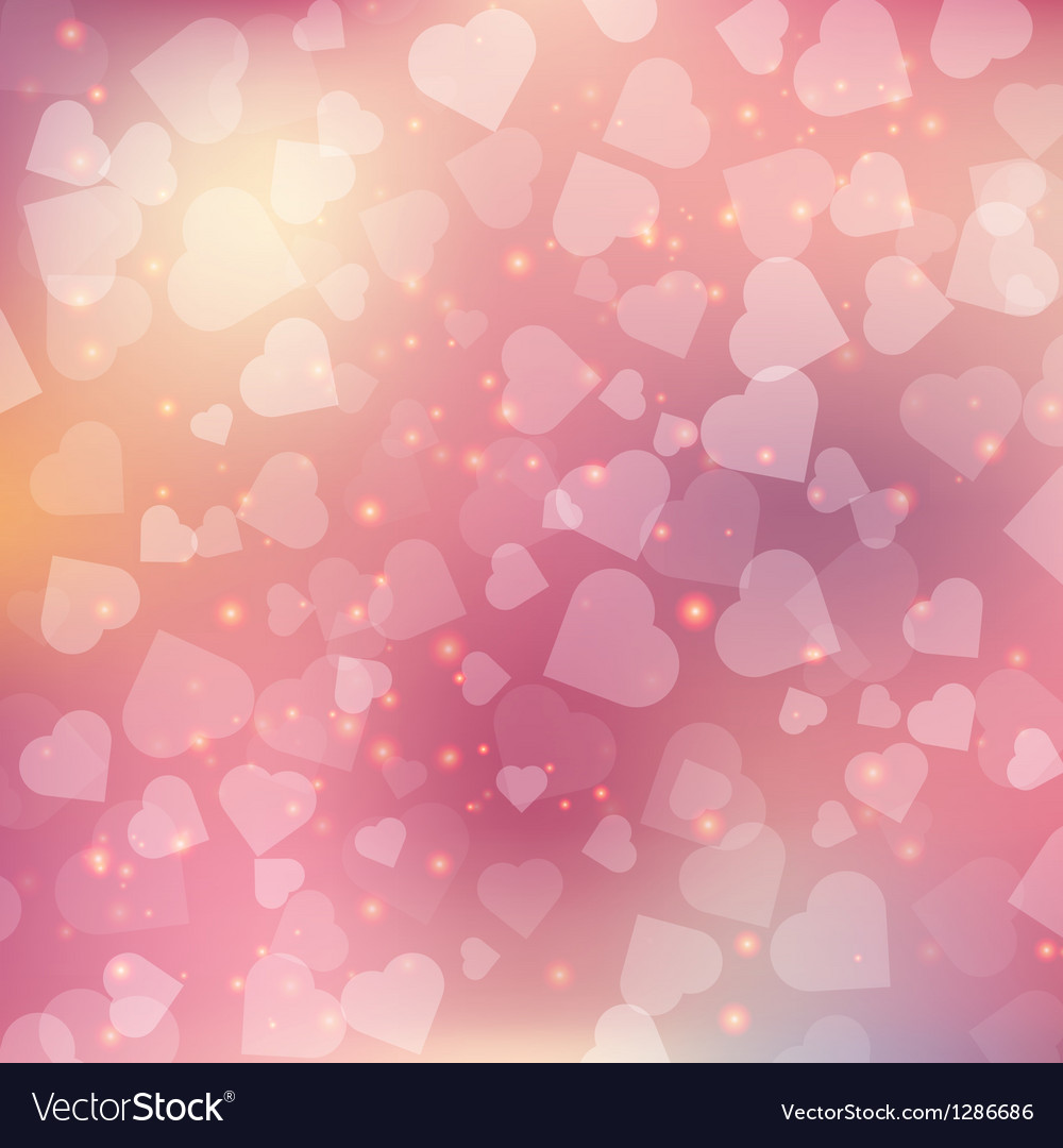Abstract bokeh heart background vector | Price: 1 Credit (USD $1)