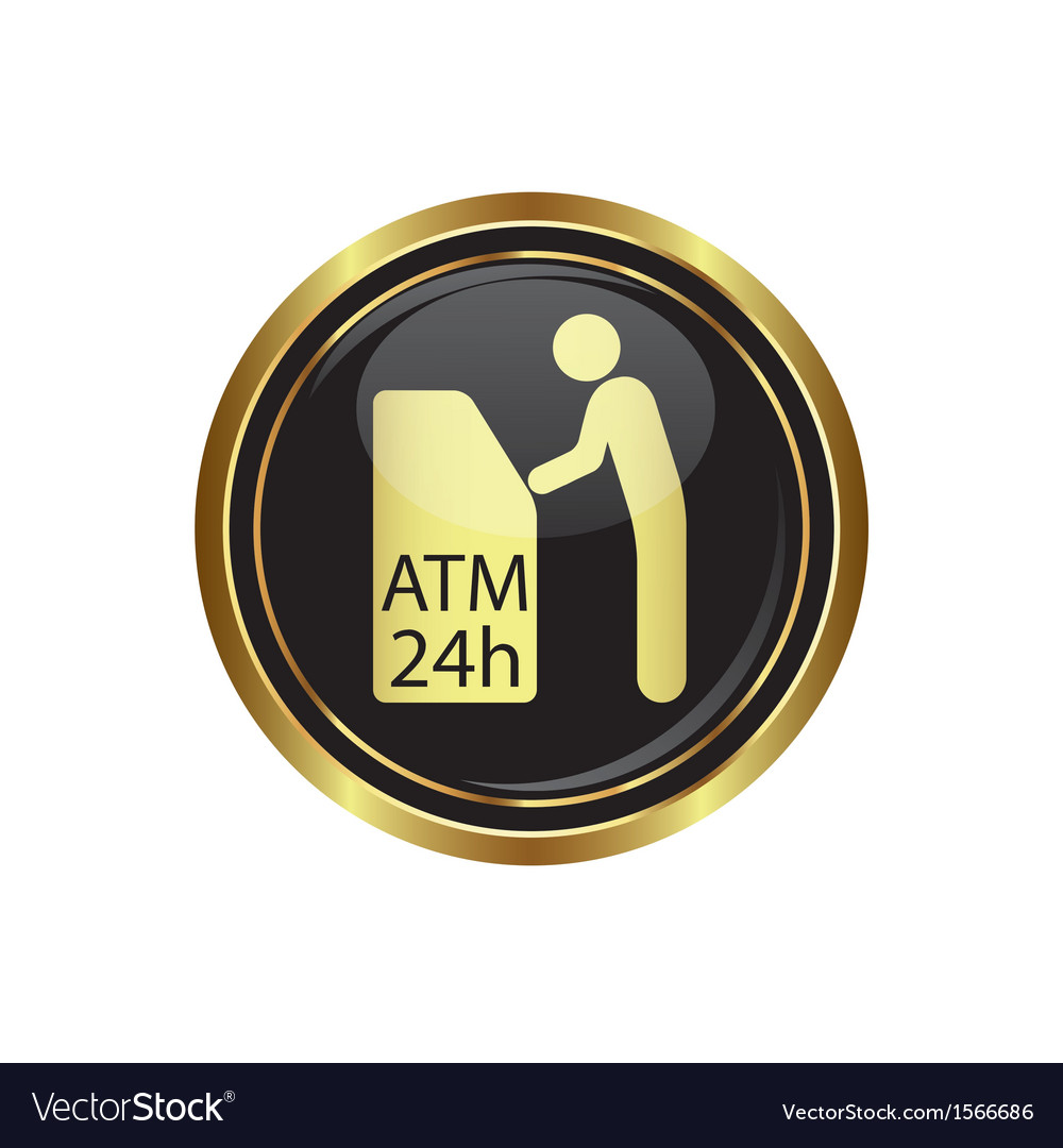 Atm icon button gold2 copy vector | Price: 1 Credit (USD $1)