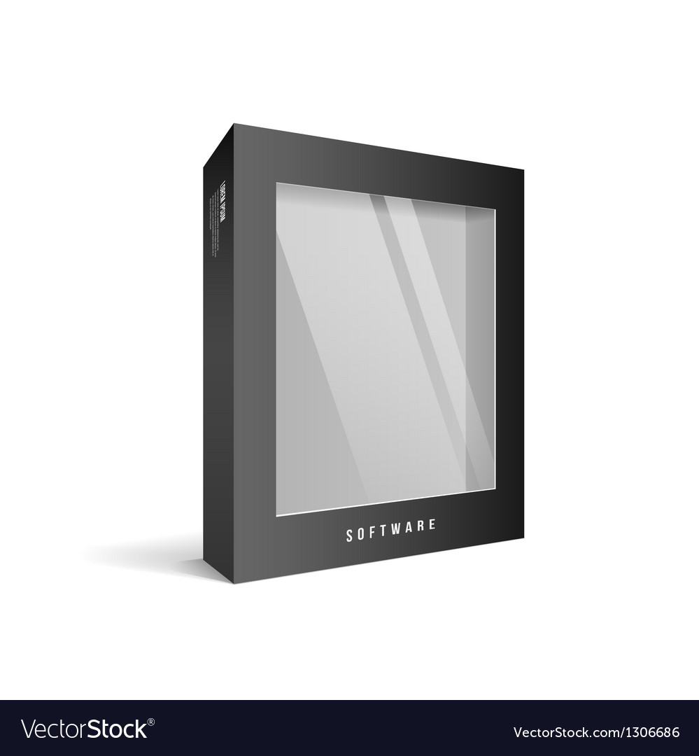 Black box software package vector | Price: 1 Credit (USD $1)