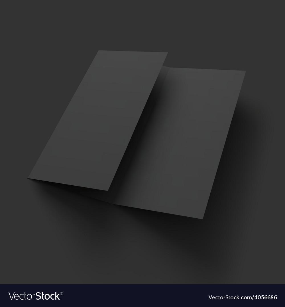 Blank trifold paper brochure mockup vector   Price: 1 Credit (USD $1)