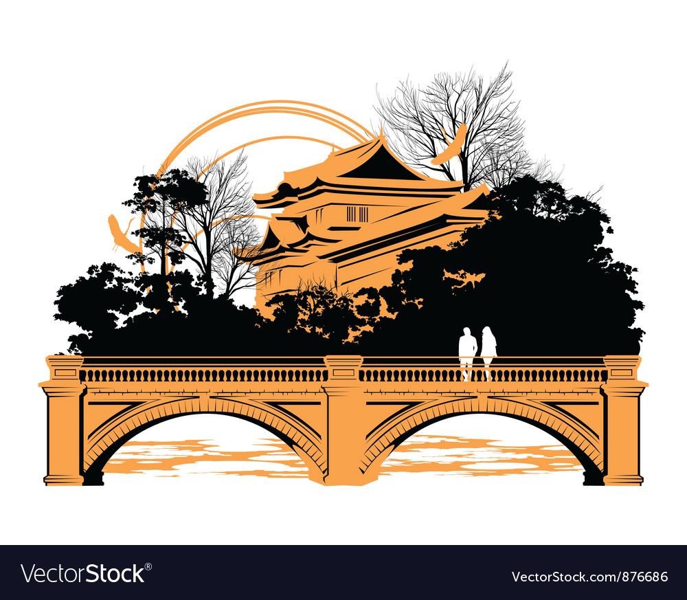 Chinese bridge vector | Price: 1 Credit (USD $1)