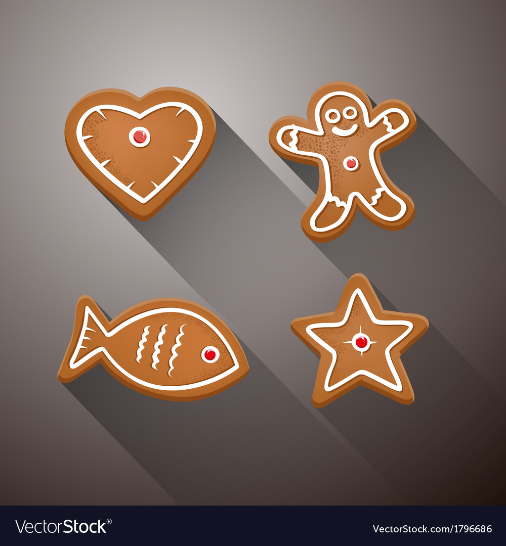 Christmas gingerbread - heart fish star and vector | Price: 1 Credit (USD $1)