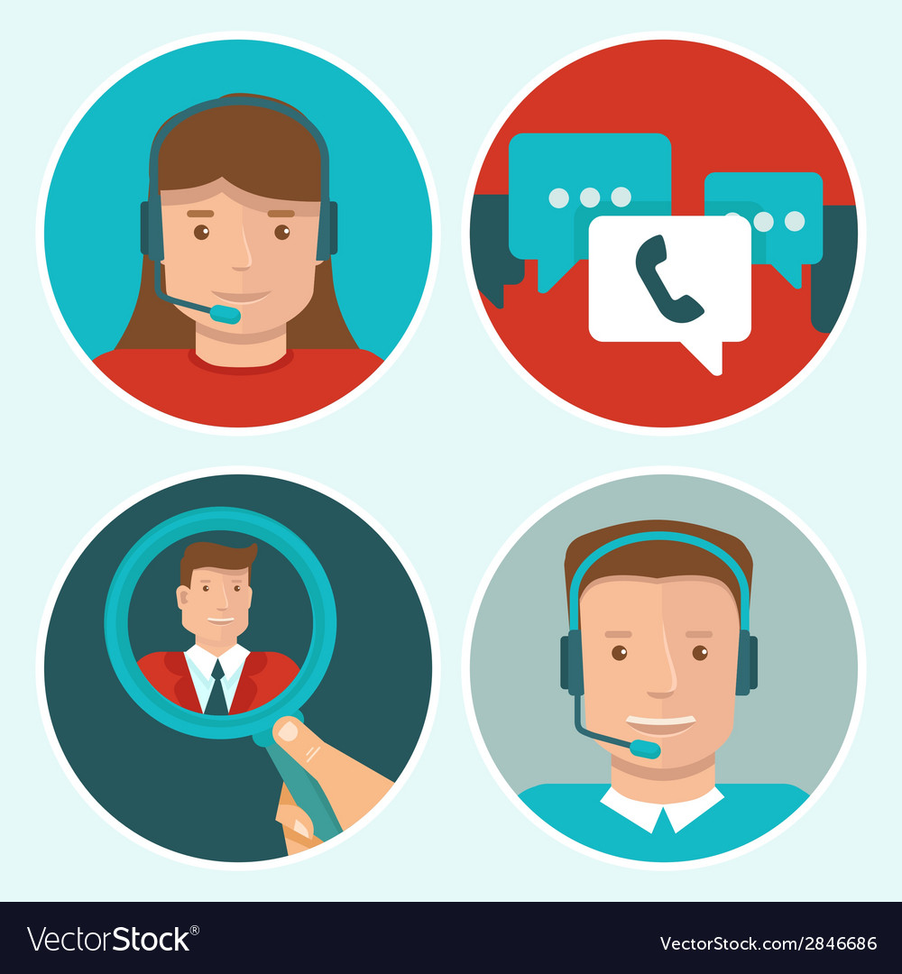 Client service vector | Price: 1 Credit (USD $1)