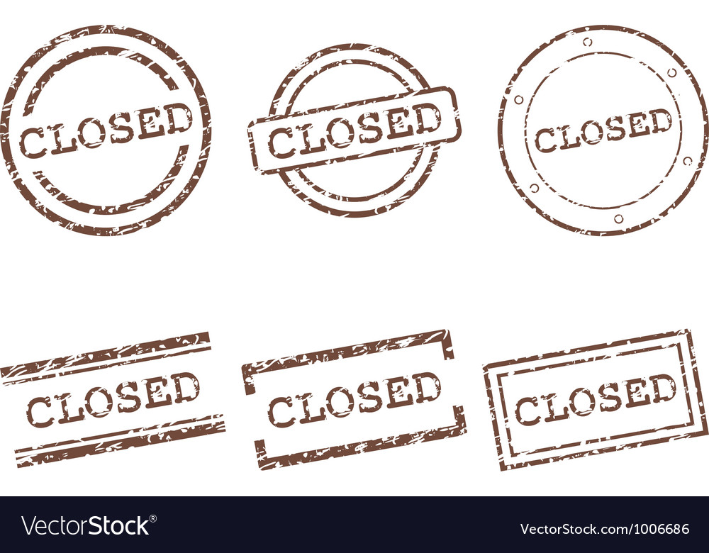 Closed stamps vector | Price: 1 Credit (USD $1)