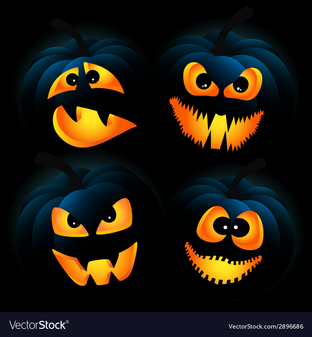 Dark pumpkins vector | Price: 1 Credit (USD $1)