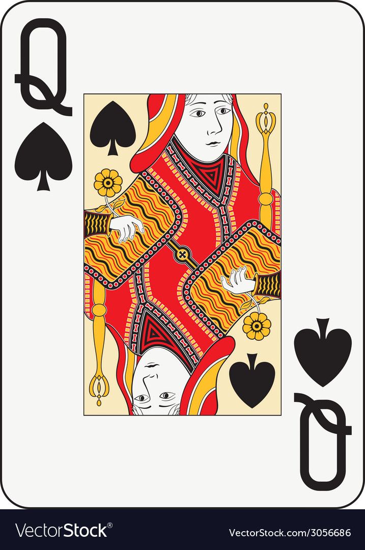 Jumbo index queen of spades vector | Price: 1 Credit (USD $1)