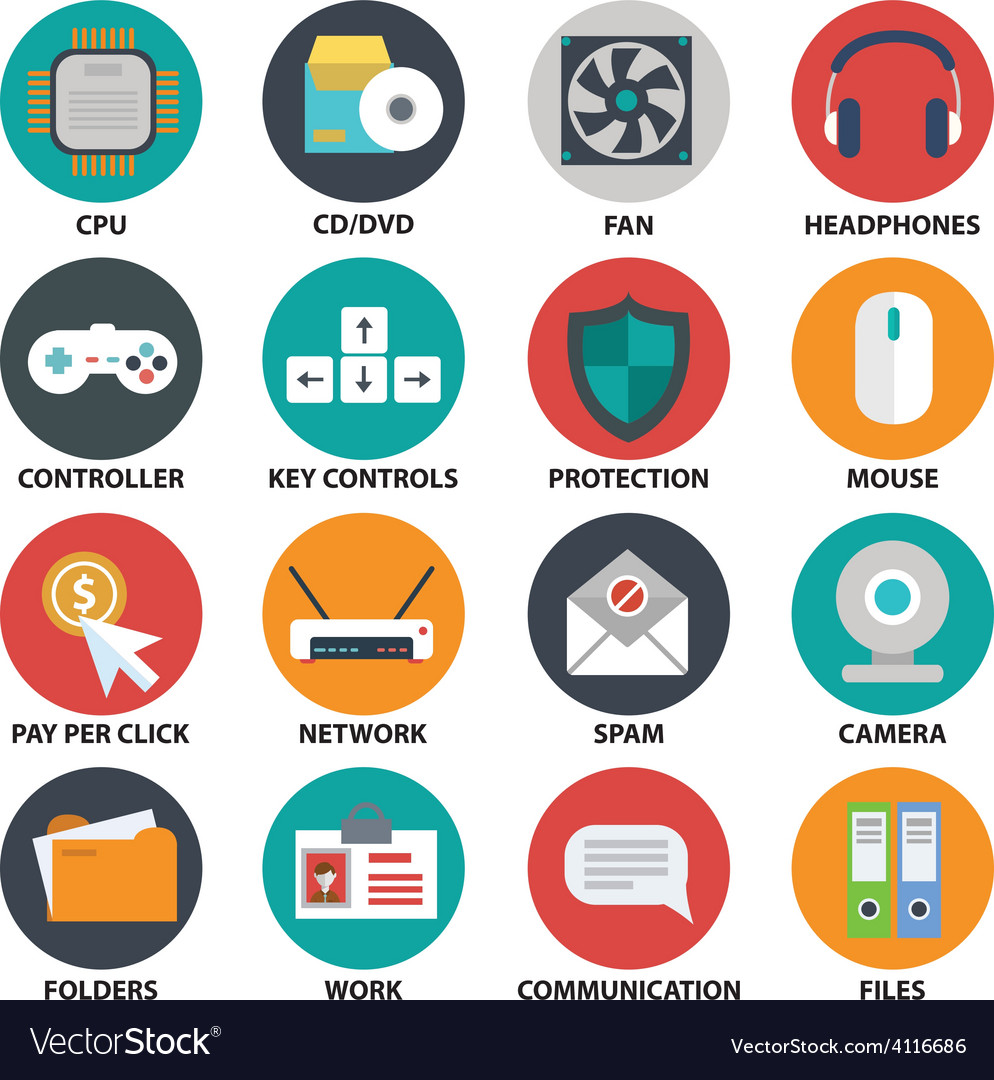 Office tech icons vector   Price: 1 Credit (USD $1)