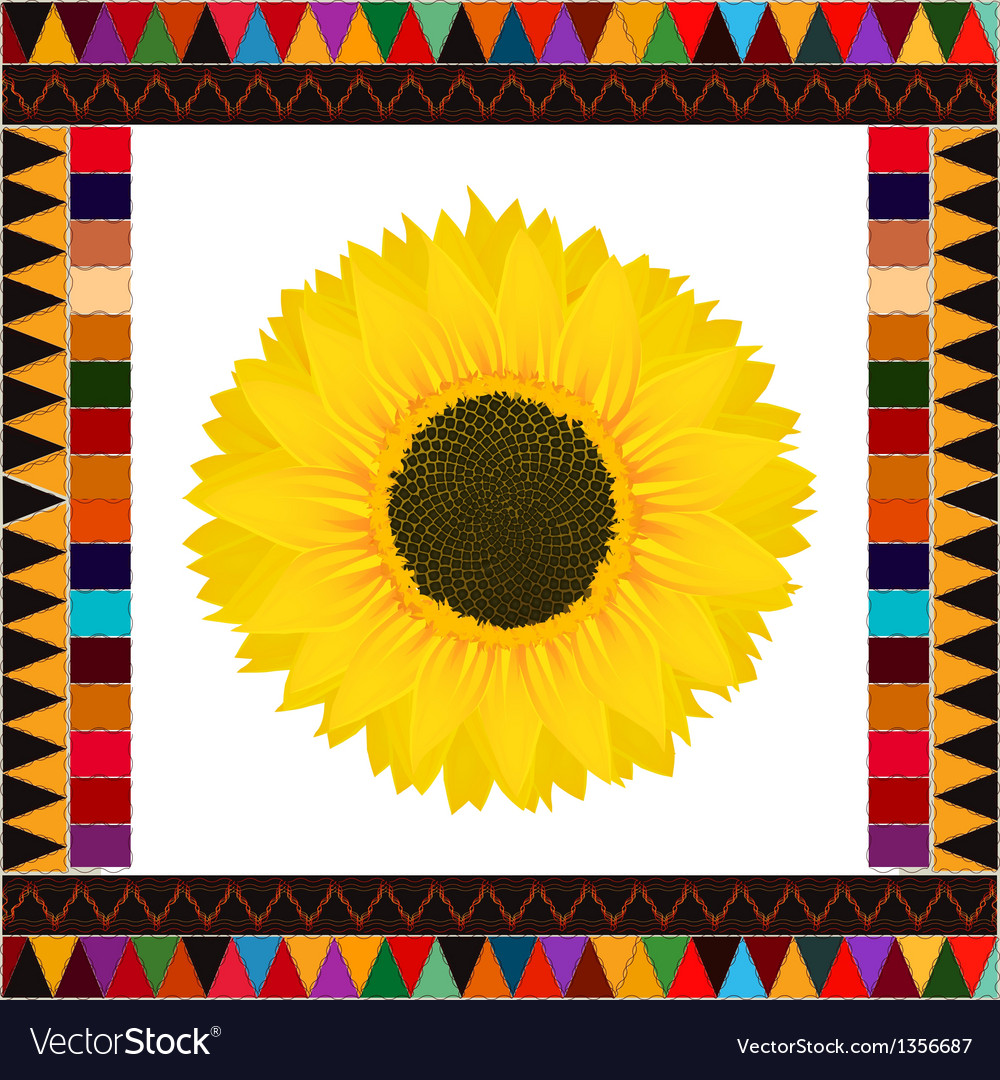 Autumn sunflower background vector | Price: 1 Credit (USD $1)