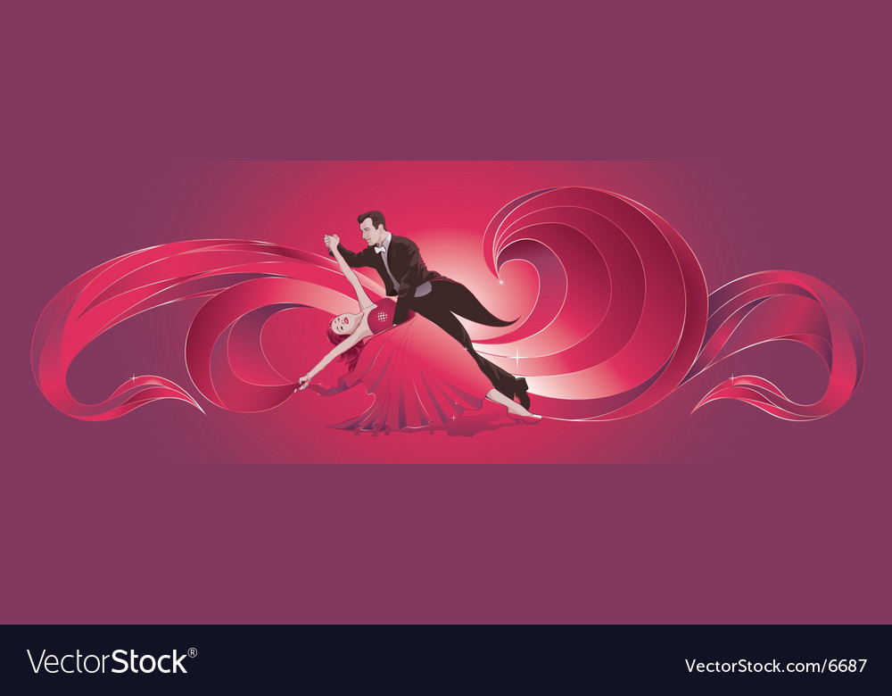 Ballroom dancers vector | Price: 5 Credit (USD $5)