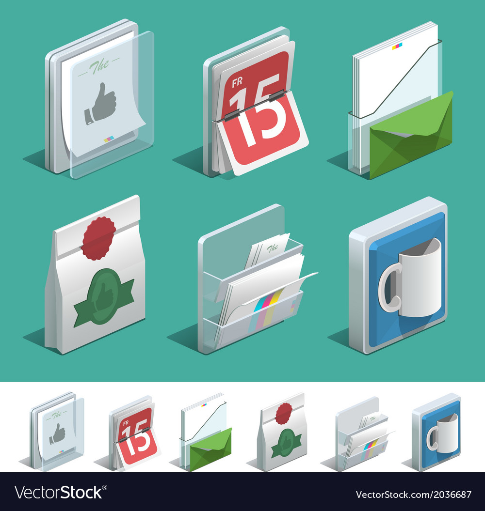 Basic printing icons vector | Price: 1 Credit (USD $1)