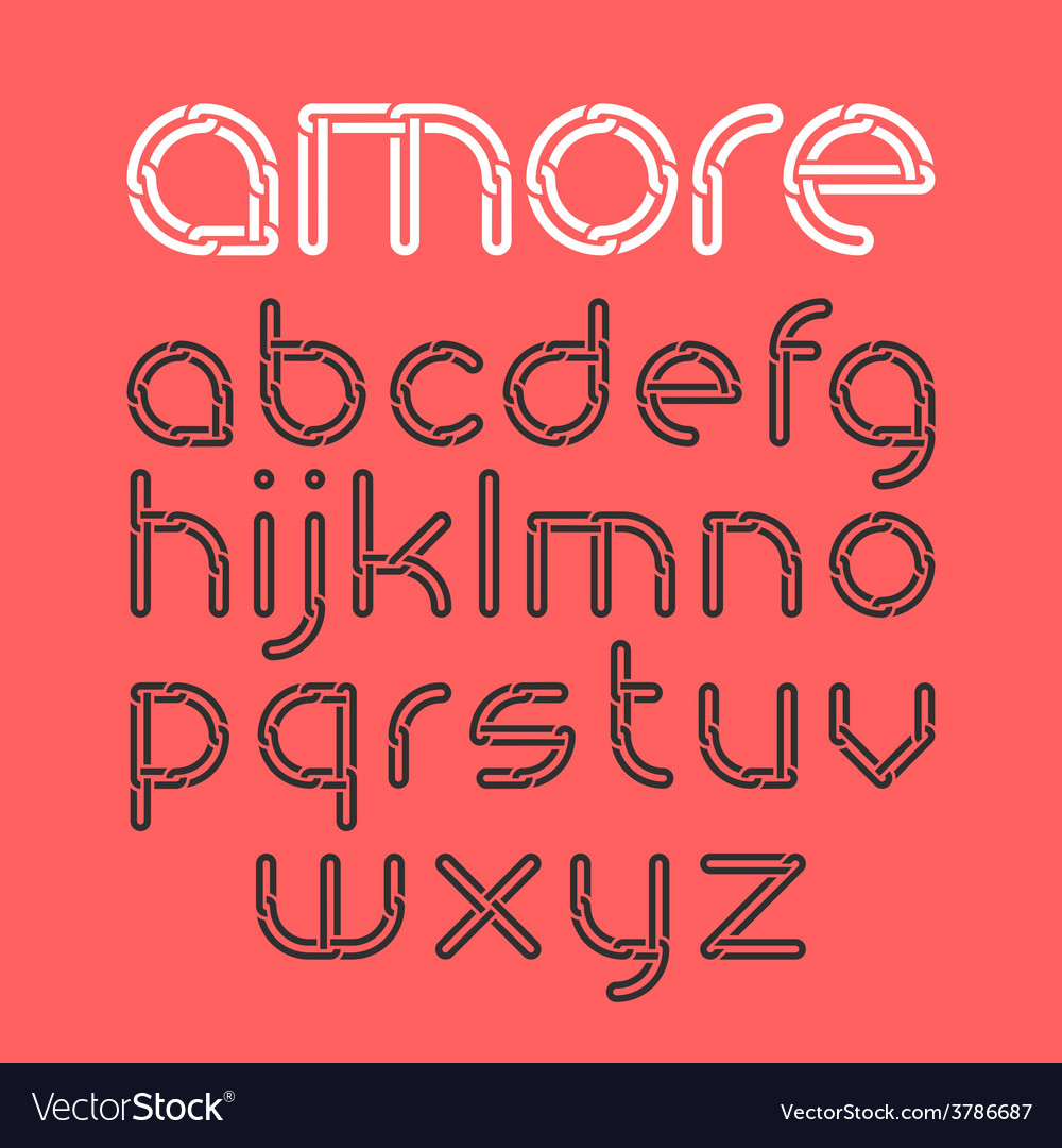 Font from chain vector | Price: 1 Credit (USD $1)