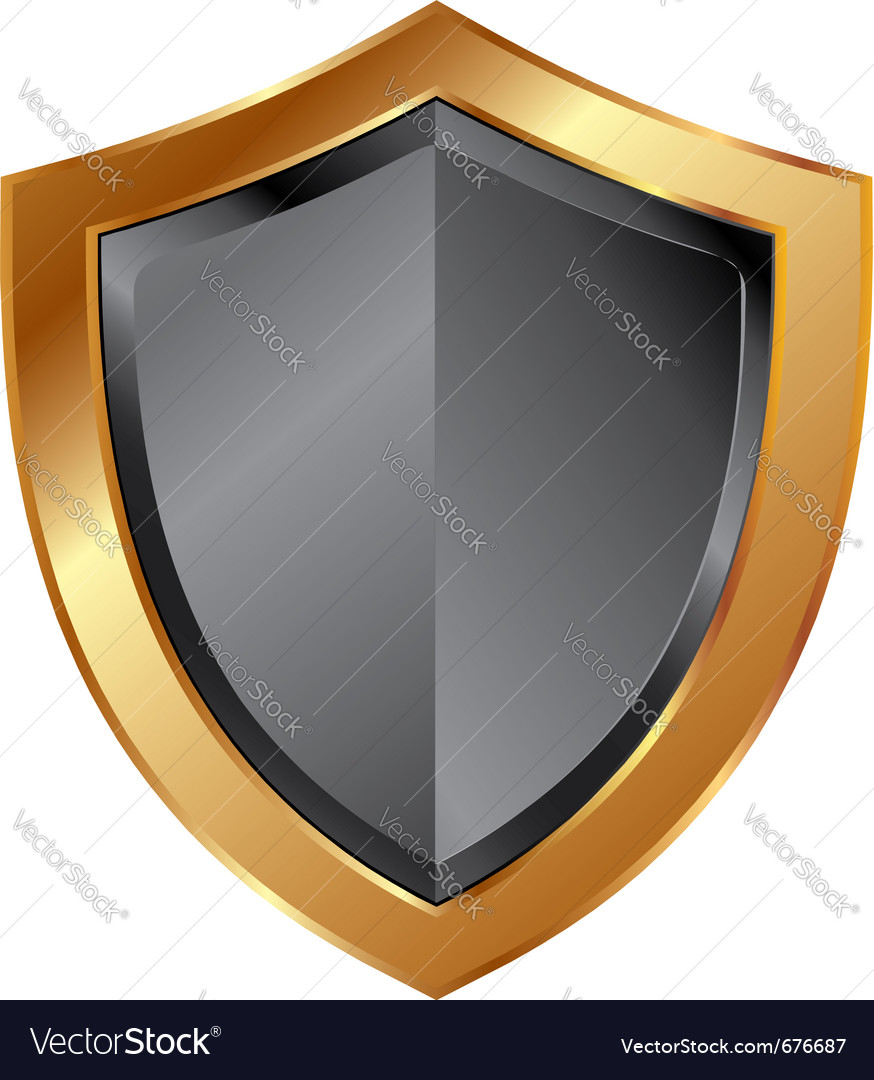 Gold shield trim vector | Price: 1 Credit (USD $1)