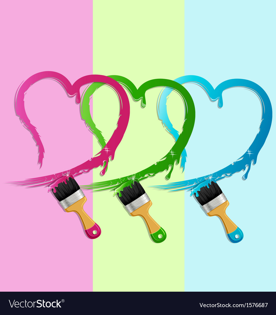 Heart paint brush vector | Price: 1 Credit (USD $1)
