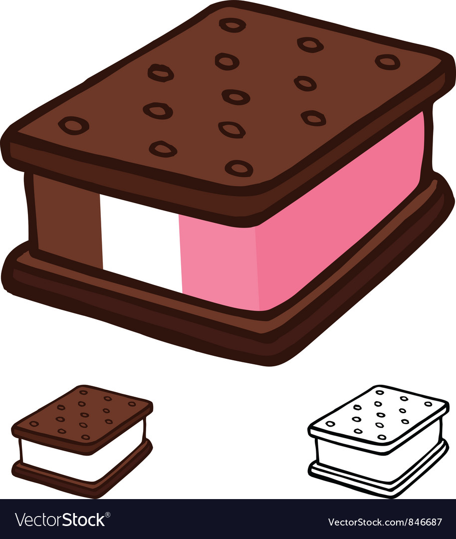 Ice cream sandwich vector | Price: 3 Credit (USD $3)