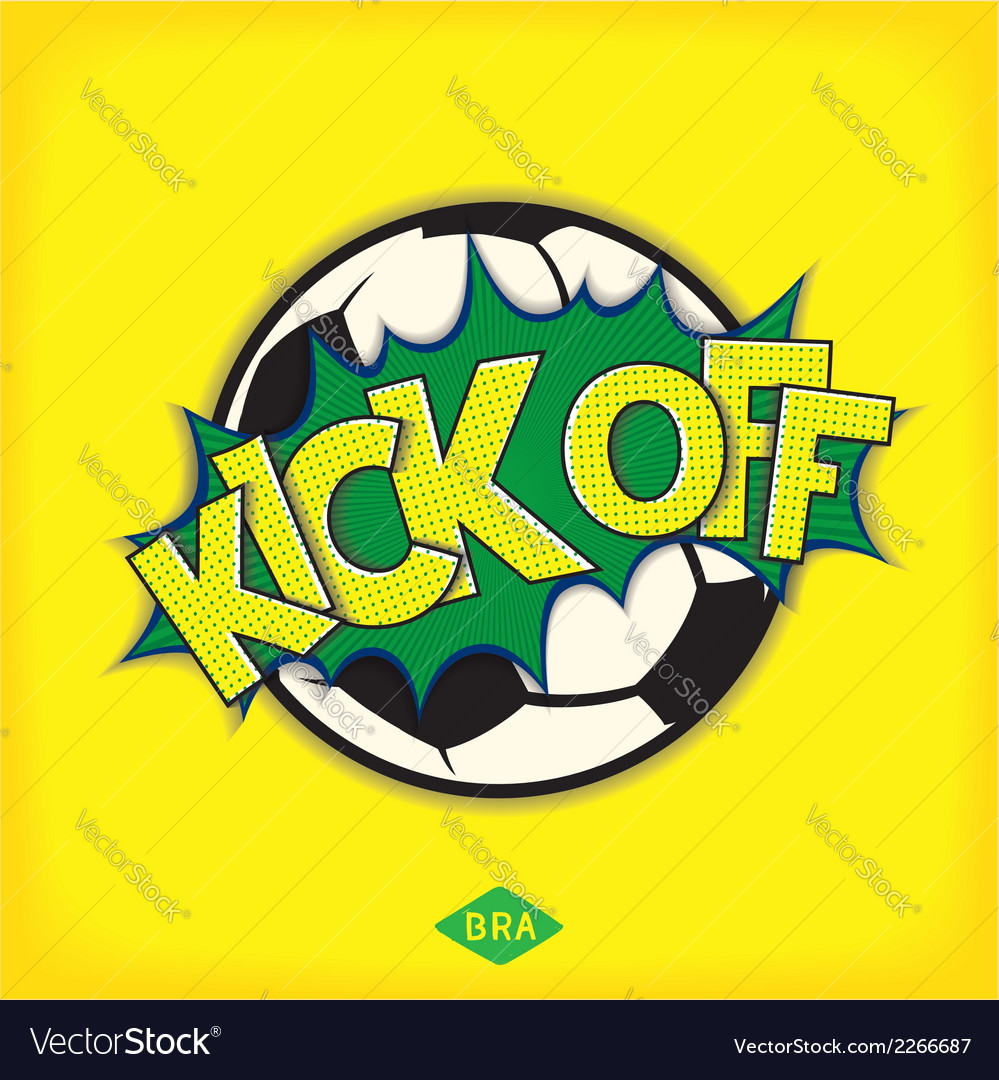Kick off football match vector | Price: 1 Credit (USD $1)